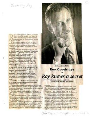 Roy knows a secret