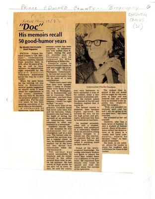 """Doc"" His memoirs recall 50 good-humor years"