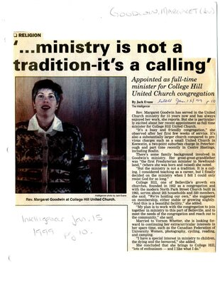 '...ministry is not a tradition-it's a calling'