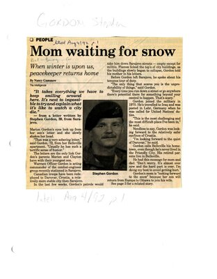 Mom waiting for snow