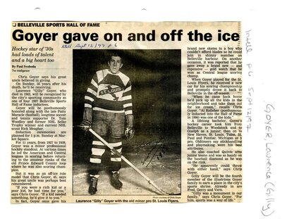 Goyer gave on and off the ice