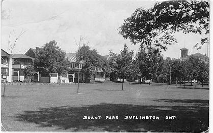 Brant Park, Burlington, Ont; postmarked July 29, 1918 (?)