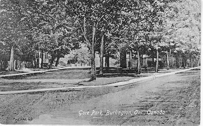 Gore Park, Burlington, Ont., Canada; postmarked October 24, 1917