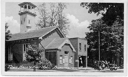 Town Hall & Fire Hall, Burlington, Ont -- Exterior