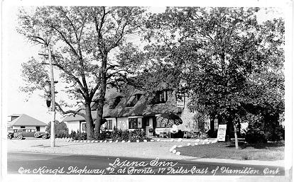 Lexena Inn -- On King's Highway, #2 at Bronte, 17 Miles East of Hamilton, Ont --Exterior, seen from side