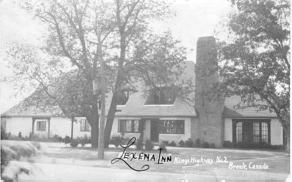 Lexena Inn, King's Highway No. 2 -- Exterior, front view; postmarked August 8,  1932
