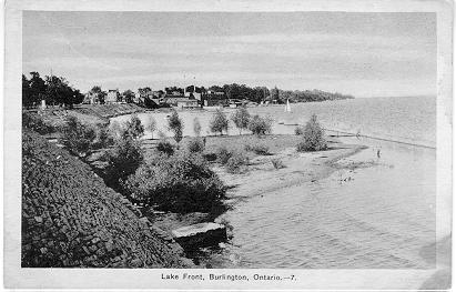 Lake Front, Burlington, Ontario -- view of small point & lake