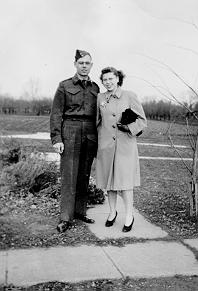 Bullock Family -- Theo and Marie, Christmas 1942