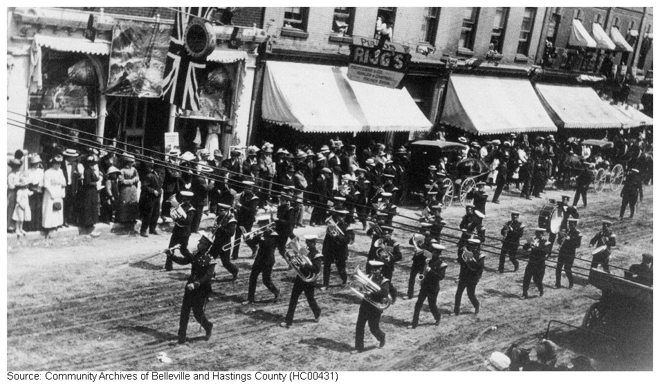 Belleville Band Parade on Front Street