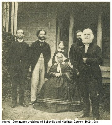 Susanna and Dunbar Moodie   with Strickland brothers