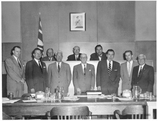 Town of Burlington - 1957 Council