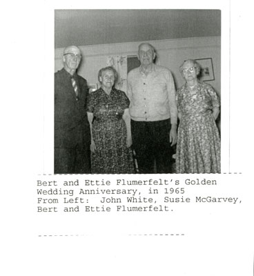 Golden Anniversary of Ettie White and Bert Flumerfelt