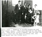 Wedding of Windom Ruebottom April 1922