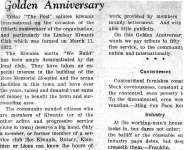 Golden Anniversary - 19 January 1965