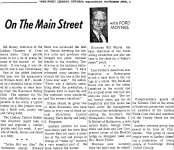 On the Main Street - 23 November 1966