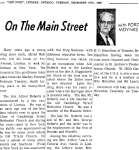 On the Main Street - 6 December 1966