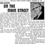On the Main Street - 8 December 1966