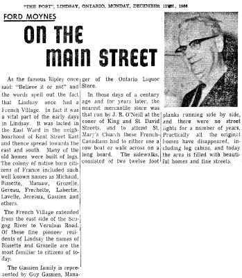 On the Main Street - 12 December 1966