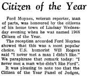 Citizen of the Year - 1968