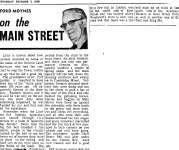 On the Main Street - 4 December 1968