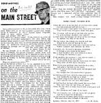 On the Main Street - 26 February 1969