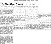 On the Main Street - 30 October 1969