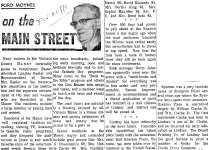On the Main Street - 20 November 1970