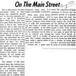 On the Main Street - 7 Aug 1971