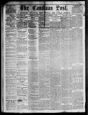Canadian Post (Lindsay, ONT), 11 Nov 1864