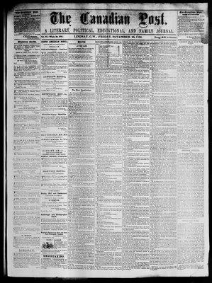 Canadian Post (Lindsay, ONT), 25 Nov 1864
