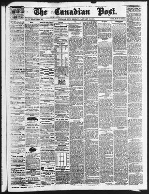 Canadian Post (Lindsay, ONT), 22 Jan 1875