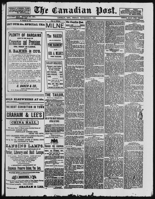 Canadian Post (Lindsay, ONT), 2 Nov 1888