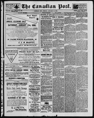 Canadian Post (Lindsay, ONT), 17 Jan 1890