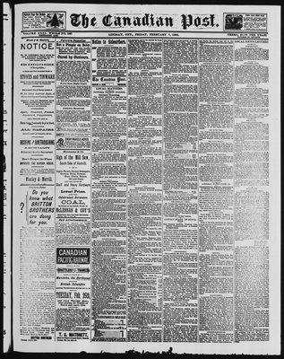 Canadian Post (Lindsay, ONT), 7 Feb 1890