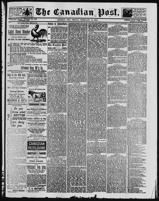 Canadian Post (Lindsay, ONT), 14 Feb 1890