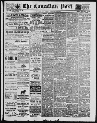 Canadian Post (Lindsay, ONT), 21 Feb 1890