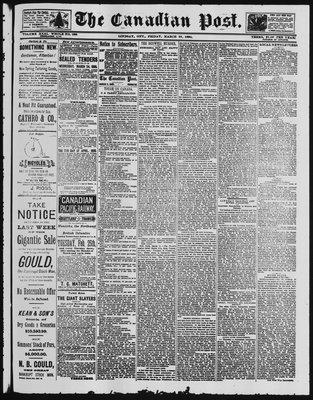 Canadian Post (Lindsay, ONT), 21 Mar 1890