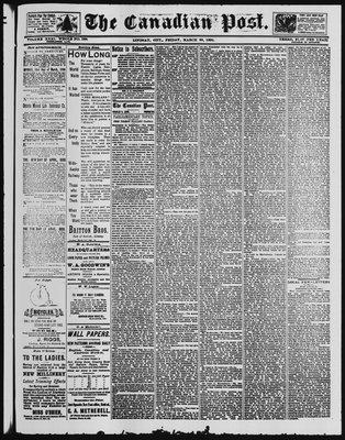 Canadian Post (Lindsay, ONT), 28 Mar 1890