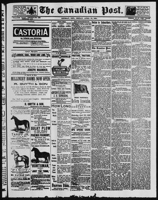 Canadian Post (Lindsay, ONT), 25 Apr 1890