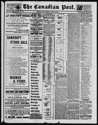 Canadian Post (Lindsay, ONT), 13 Jun 1890
