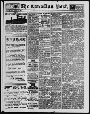 Canadian Post (Lindsay, ONT), 11 Jul 1890