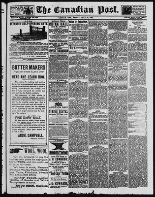 Canadian Post (Lindsay, ONT), 18 Jul 1890
