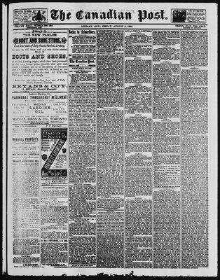 Canadian Post (Lindsay, ONT), 8 Aug 1890