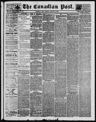 Canadian Post (Lindsay, ONT), 15 Aug 1890
