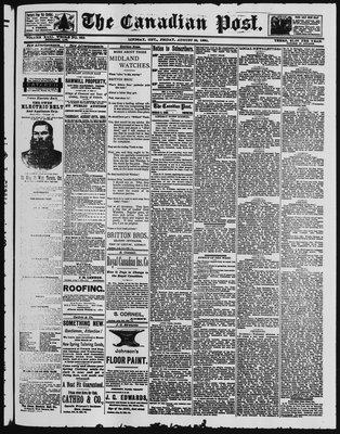 Canadian Post (Lindsay, ONT), 22 Aug 1890