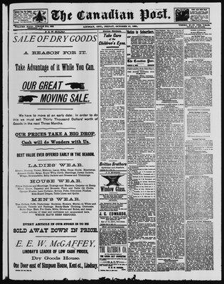 Canadian Post (Lindsay, ONT), 10 Oct 1890