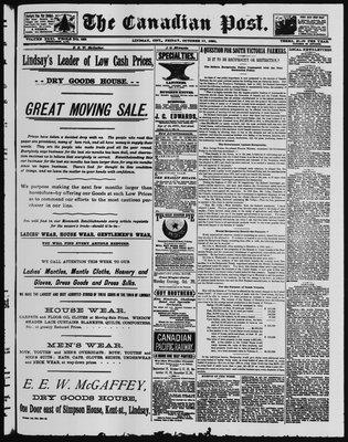 Canadian Post (Lindsay, ONT), 17 Oct 1890