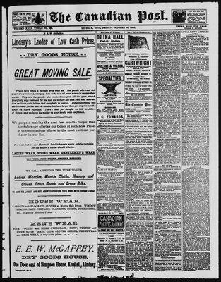 Canadian Post (Lindsay, ONT), 24 Oct 1890