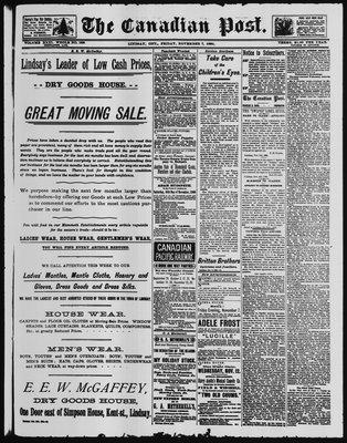 Canadian Post (Lindsay, ONT), 7 Nov 1890