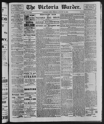 Victoria Warder (Lindsay, ONT), 29 Aug 1890